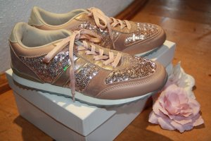 Sneaker mit Pailletten altrosa