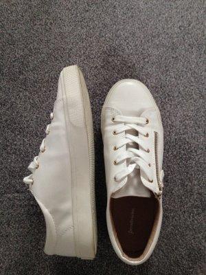 Sneaker mit Reißverschluss weiß Gr. 38