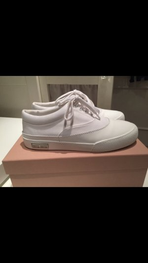 Miu Miu Sneaker stringata bianco