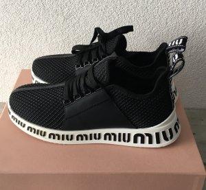 Miu Miu Sneaker alta nero