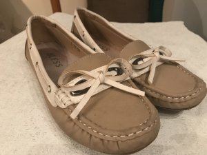 Moccasins gold-colored-sand brown leather