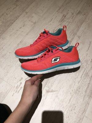 Sneaker neonpink / rot skechers
