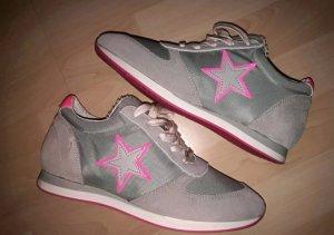 Sneaker Neu von SPM Shoes and Boots grau pink Gr. 36