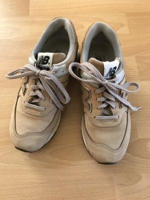"""Sneaker """"New Balance""""Gr. 38 Velourleder, camelfarben"""