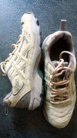 Asics Zapatos brogue color plata-crema