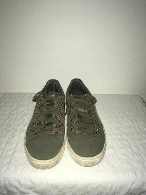 Sneaker * Puma * 38 * Khaki * grün * Nieten *