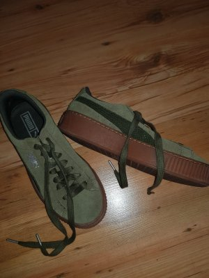Puma Lace-Up Sneaker olive green-khaki