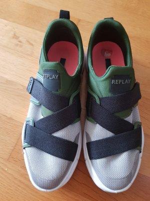 Replay Sneaker slip-on grigio chiaro-verde scuro
