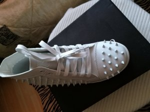 100% Fashion Sneaker stringata bianco Finta pelle
