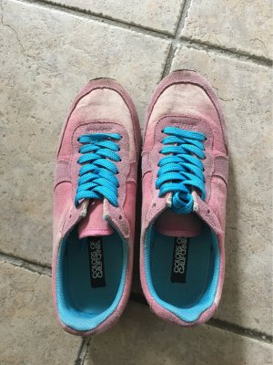 Colors of California Lace-Up Sneaker pink-cornflower blue