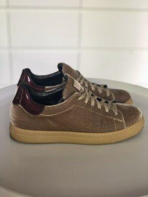 Sneaker SCAPA velvet braun cognac retro bordeaux samt teddy Turnschuhe