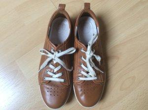 Sneaker Schnürsneaker Retro Vintage  Leder Cognac