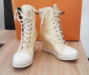 Sneaker  Schuhe mit Absatz gr.37 Lackleder