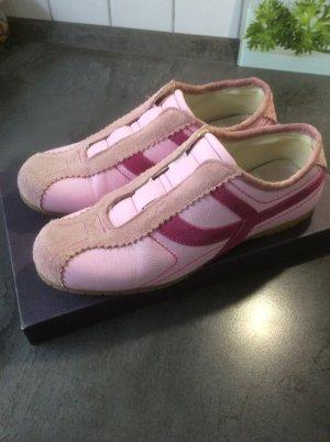 Basket slip-on rose-violet cuir