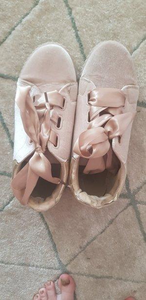 Sneaker Schuhe Schleife Beige Gold Größe 39/40