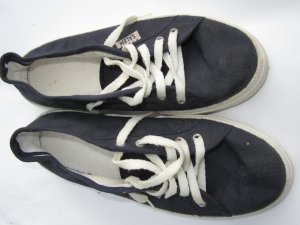 Sneaker Schuhe Vintage Retro blau Made in Italy Gr. 42