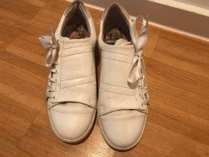Sneaker Schuhe weiß Leder mit seide comptoir de connossiers
