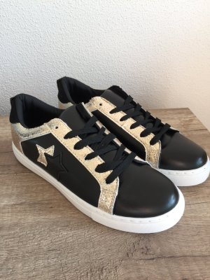 Sneaker schwarz Gold Sterne Gr 41