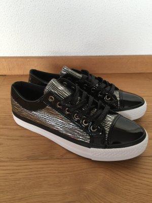 Sneaker schwarz Silber Gr 36 neu