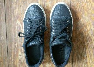 Sneaker schwarz weiß Glitzer