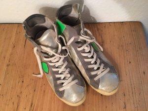 Sneaker Silber -Weiß- Grün
