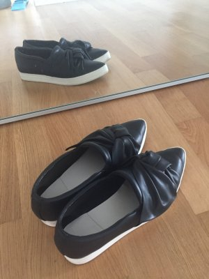Sneaker Slip ons schleife bow Gr 39 wie neu schwarz