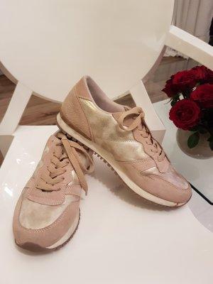 Sneaker Sportschuhe Italianstyles 39/40 gold beige