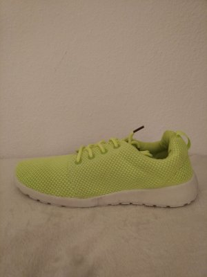 Lace-Up Sneaker neon yellow-white synthetic