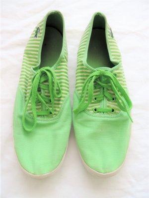 Sneaker Stoffschuhe zum Schnüren mit Streifen gestreift