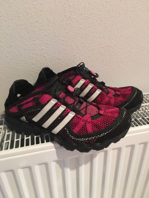 Sneaker Turnschuhe Adidas pink schwarz wie neu Gr 40 1/3