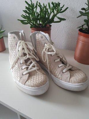 High Top Sneaker cream