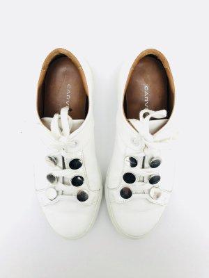 Sneaker / Turnschuhe von Carven, weiss, Gr. 39, Leder