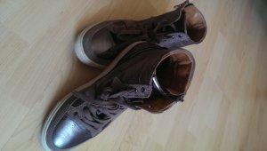 abro Sneaker alta bronzo-marrone