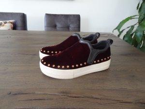Sneaker von ASH, Bordeaux, Samt, Gr. 37!!