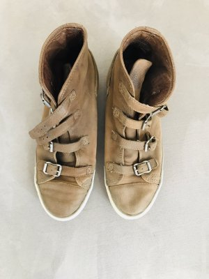 ASH Lace-Up Sneaker bronze-colored leather