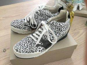 Sneaker von Candice Cooper, schwarz weiß, Leo Muster, Silber Gr. 40, Running Ghana