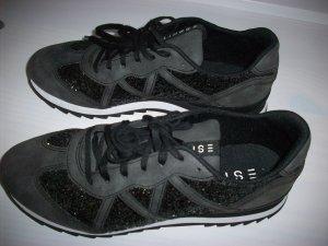 Sneaker von Esprit Gr.38 Schwarz/Grau mit Glitzer