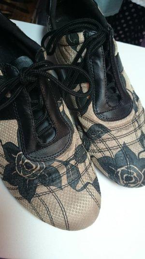 Graceland Lace-up Pumps beige-black