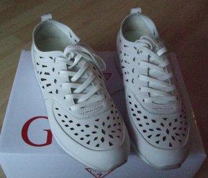 Guess Sneaker stringata bianco Pelle