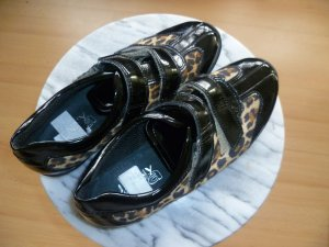 Sneaker von JENNY by ARA Gr. 37 schwarz Lack und Animal