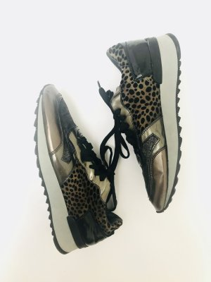 Sneaker von maripe, leoprint-schwarz-bronze, Gr. 39