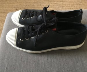 Prada Lace-Up Sneaker black-white leather