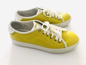 Sneaker von Tod's, gelb-weiss, Gr. 39,5, Leder