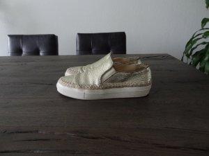 Sneaker von ZARA, Gold, Leder, Gr. 37!!