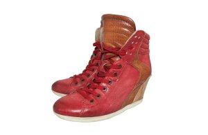 Sneaker Wedges/ Absatz Sneaker in Rot