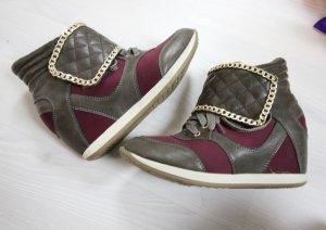 Sneaker Wedges Keilabsatz Boots Chain Ketten Detail chic