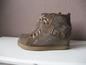 Sneaker Wedges mit Strass