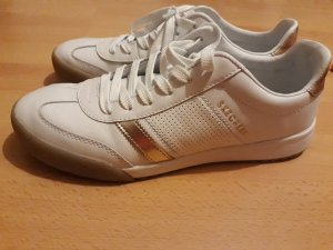 Sneaker weiß-gold