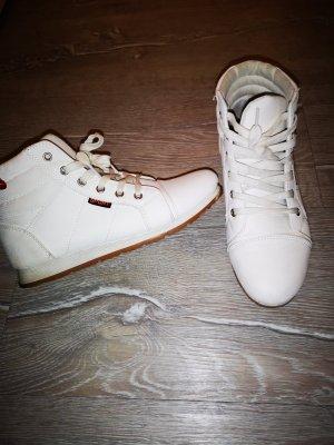 Sneaker, weiß, high