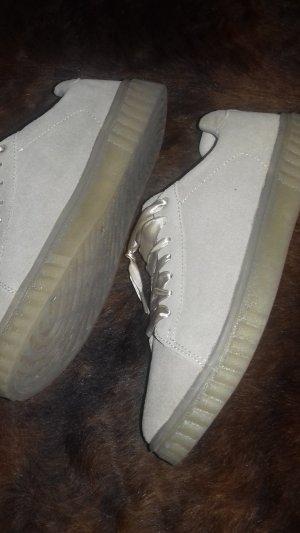 Blue Motion Heel Sneakers beige suede